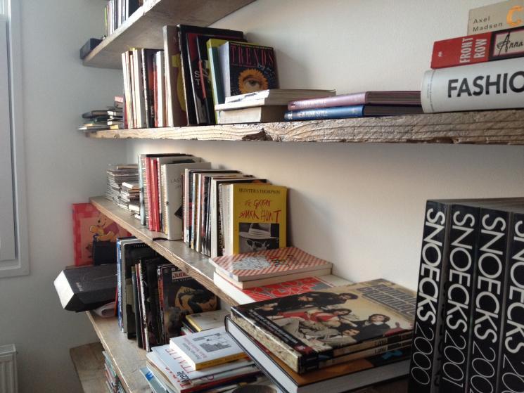 boekenkast, steigerhout, zwevende plank, amsterdam