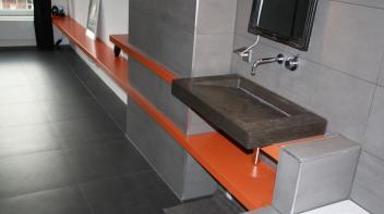 zwevende plank,badkamer