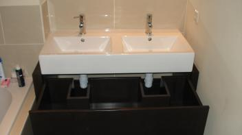 Badkamermeubel,  Zwart,  MFD